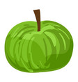 green eco apple icon cartoon style vector image