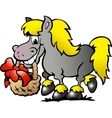 hand-drawn an pony horse vector image vector image