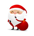 happy christmas character santa claus cartoon 008 vector image vector image