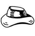 Hat sketch icon vector image vector image