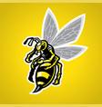 hornet mascot vector image vector image