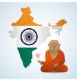 India design Culture icon Isolated vector image vector image