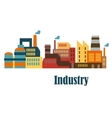 Industrial buildings flat design vector image