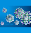 islamic art design greeting card vector image vector image