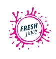 juice splash sign vector image vector image