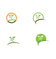 leaf green nature logo and symbol template vector image vector image