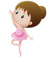 little girl dancing ballet vector image