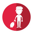 man tourist travel suitcase shadow vector image vector image