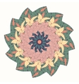 Mandala with floral abstract pattern vector image vector image