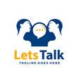 modern logo talking or communication woman vector image