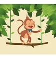 Monkey cartoon design vector image