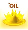 oil splash advertisement clear stream vector image