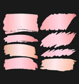 pink gold grunge brush strokes vector image vector image