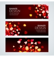 Rose Petals wedding love banners vector image