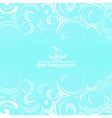 Sea background with blue waves vector image vector image