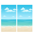 seamless background with clouds in sky vector image