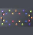 set of color garlands festive decorations vector image