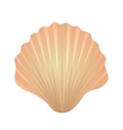 Shell icon logo element Flat style isolated on vector image vector image