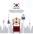 south korea infographic vector image vector image