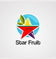 star fruit logo iconelement and template vector image vector image