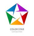 star logo abstract geometric symbol rainbow vector image vector image