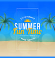 summer fun time beach paradise background vector image vector image
