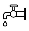 the tap water icon water symbol with outline style vector image