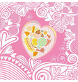 Valentines day card heart sweet vector image vector image