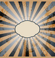 vintage sunburst background vector image