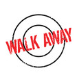 walk away rubber stamp vector image vector image