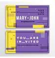 Wedding Invitation Card Template Modern Abstract vector image vector image