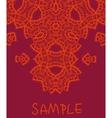Wedding invitation Stylized indian mehndi vector image vector image