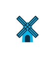 windmill icon colored symbol premium quality vector image vector image