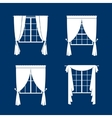 Window curtains set vector image