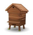 wood hive for bees vector image vector image