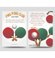 Ping pong flyers template vector image