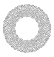 Monochrome floral background Hand drawn ornament vector image