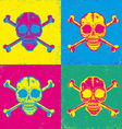 skull pop art vector image
