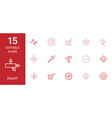 15 right icons vector image vector image
