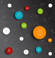 abstract circles infographic network template vector image vector image