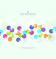 abstract colorful circle bubble with light vector image vector image