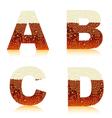 Alphabet dark beer vector image