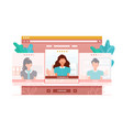 app for evaluating and rating people looks vector image