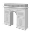 arc de triomphe in paris arch building single vector image