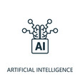 artificial intelligence thin line icon creative vector image vector image