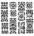 background with elements african ornament vector image