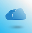 blue cloud icon floating with shadow vector image vector image