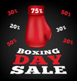boxing day sale concept background realistic vector image vector image