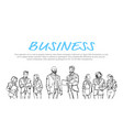 business people communication hold folders during vector image vector image