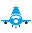 Cargo Plane Flat Icon vector image vector image
